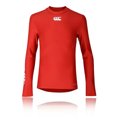Canterbury Thermoreg Junior Rouge Manche Longue Col Rond Baselayer Sport Top