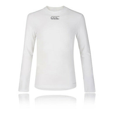 Canterbury Thermoreg Junior Blanc Manche Longue Col Rond Baselayer Sport Top