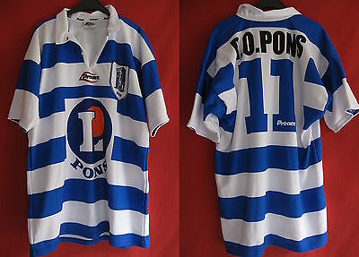 Maillot Rugby Olympic Pontois Vintage PONS Shirt Porté Match Proact - XXL