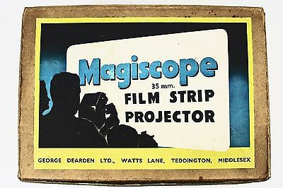 Vintage Magicscope 35Mm Film Strip Projector In Original Box With Filmstrips Vgc