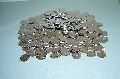 300 Brand New Stainless - 1/2 - Half Dollar Size Slot Machine Tokens -  30Mm