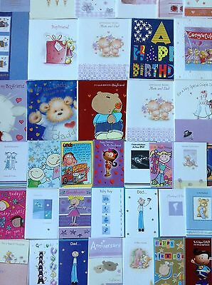 500 birthday/greeting & every day cards + 100 christmas cards Wholesale job lot