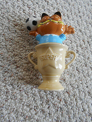 Vintage Enesco Garfield Cat Soccer Trophy Figurine
