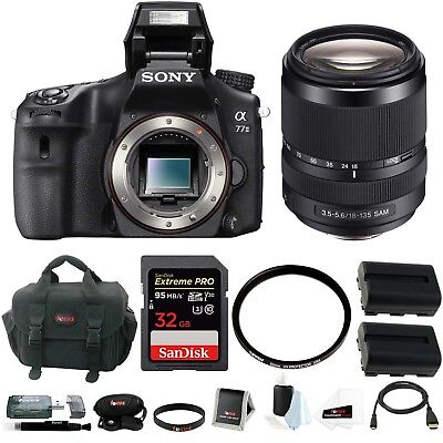 Sony Alpha a77II DSLR Camera (Body Only) With Sony 18-135mm Lens and Bundle