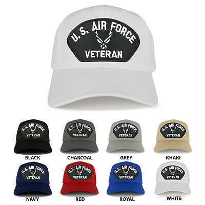 b8027873070a4 US AIR FORCE Veteran Wings Large Embroidered Patch Adjustable Baseball Cap