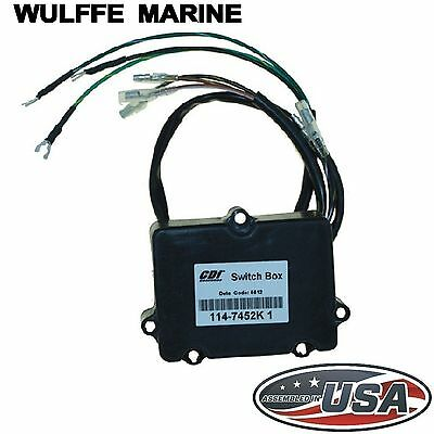 Switch Box for Mercury Outboard 2 Cylinder 6-35 Hp CDI 114-7452K1 Rplcs 339-7452