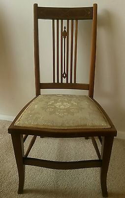 4 edwardian Small bedroom chairs