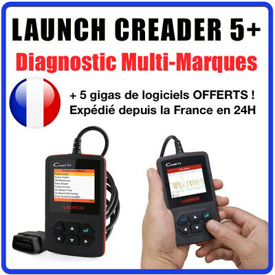 Valise SCANNER Diagnostique LAUNCH CREADER 5 V - MULTIMARQUES OBD2 AUTO
