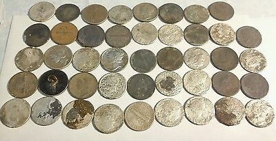 Lot of 44 count 90% Silver Dimes, Metal Detector Finds! Roosevelt,  Mercury