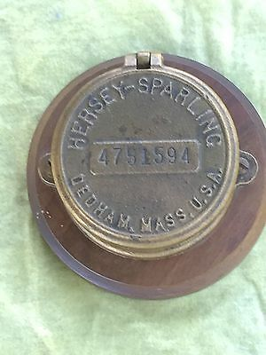 Hersey - Sparling Meter Cover Handsomely Mounted Dedham Mass USA