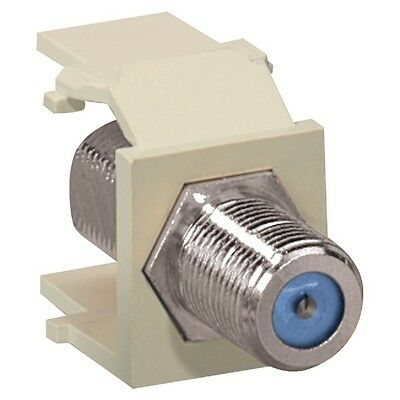 LEVITON 41084-FTF QuickPort(R) Nickel-Plated F-Type Adapter (Light Almond)