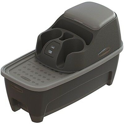Rubbermaid Mobile 3376-00 Console Combo Organizer with USB Outlet