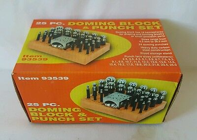 New 25 pc Piece Set Precision Jewelry Shaping PUNCH SET with Doming Block