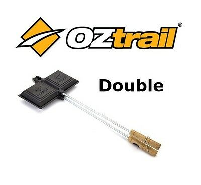 OZTRAIL DOUBLE SIZE JAFFLE Maker Cast Iron Cooking