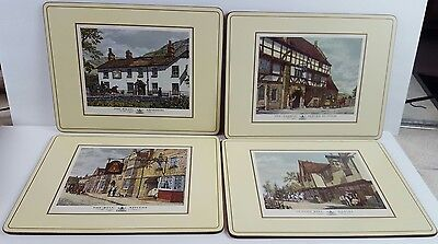 Pimpernel placemats set of 4 English Inns made in England with box