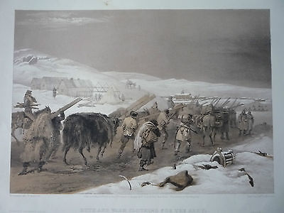 """"""" Huts And Warm Clothing For The Army."""" 1855. Very Rare"""