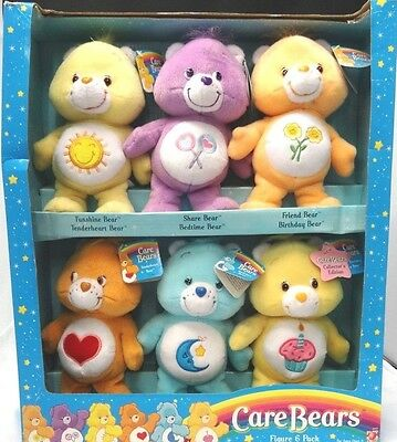 Care Bears Figure 6 Pack New Still In Box 20th Anniversary