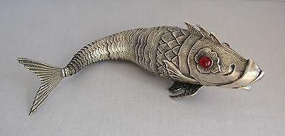 Antique Sterling Silver Articulated Fish