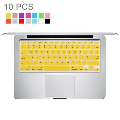 TECHNIC 10 PCS Colorized Apple Laptop Silicone Keyboard Protector Protective Fi