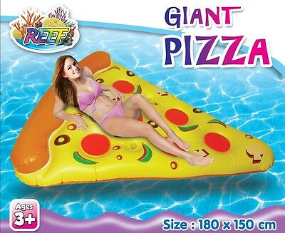 Reef Inflatable Pizza Slice HUGE 1.8m X 1.5m Ride On Pool Toy
