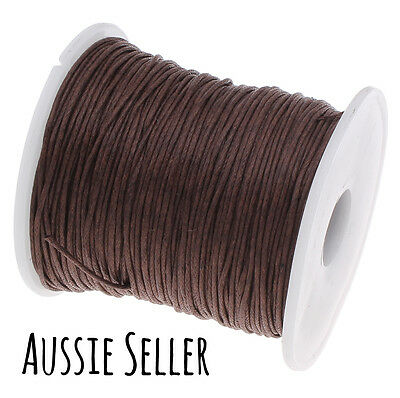 10m DARK BROWN 1mm waxed cord gift wrapping DIY jewellery for shamballa beading