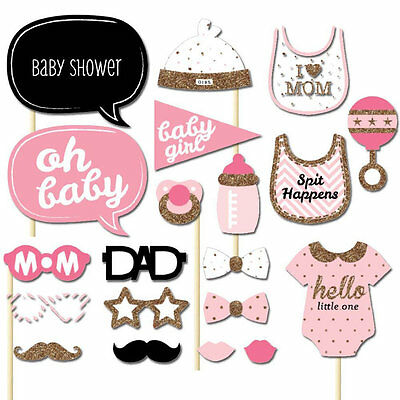 Girls Boys Baby Photo Booth Props Parties Props Shower 20 Pieces In One Set OG