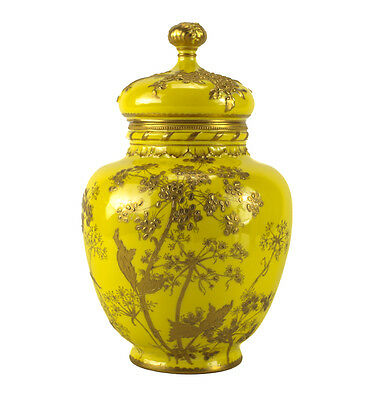 Royal Crown Derby Lidded Urn, Hand Painted Gilt Florals, 19th Century