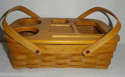 Authentic 1999 BCC Longaberger Gathering Road Trip Basket-Protector & Wood Lid