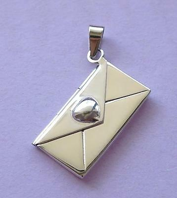 Love Letter Envelope Locket Pendant STERLING SILVER 925
