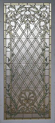 Large Victorian leaded glass window. Stained Glass, circa 1900