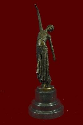 Bronze Sculpture ~ D.H.Chiparus~ Art Deco Egyptian Danc Statue Figurine EX