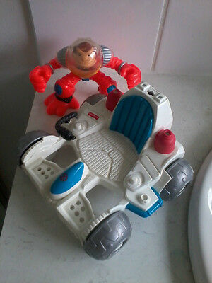 Fisher Price Rescue Heroes Animals Comet Space Monkey & Lunar Rover