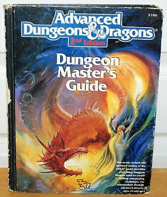 AD&D 2nd Edition 1989 DUNGEON MASTER'S GUIDE 1st Printing Hardcover TSR 2100