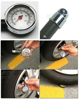 Mini Convenient Car Dial Tire Gauge Meter Precision Pressure Tyre Measure Metal