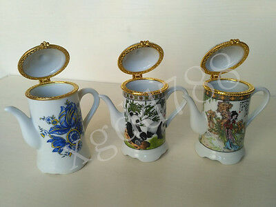 Collectibles Chinese porcelain Hand draw beautiful  toothpick boxes #