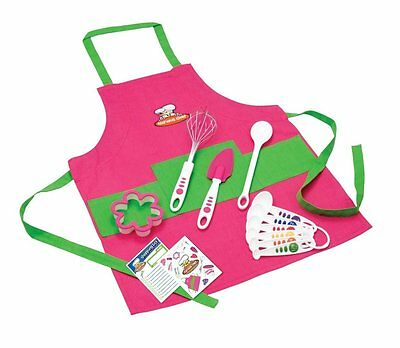 Curious Chef TCC50186 11-Piece Kids Chef Kit Pink/Green