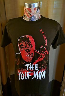 Monster Universal Horror Red The Wolf Man Wolfman Black T Shirt