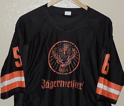 Jagermeister Black Orange 56 Yard Line Football Jersey Size Medium Large