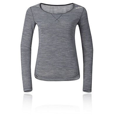 Odlo Revolution Womens Grey Long Sleeve Crew Neck Training Sports Top