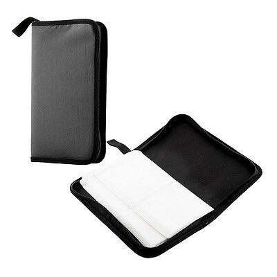 Hot 80 Disc DVD VCD Storage Case PU Wallet Album Bag Hard Box Double side Black