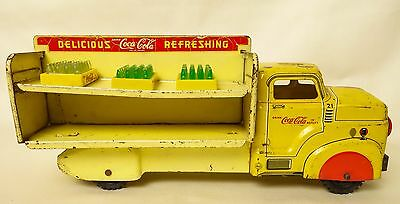 Marx 1954 Vintage Tin Coca Cola Delivery Truck With (5) Coke Cases--Good+ Orig!