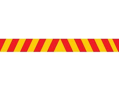 Candy Stripe Traffic Sign Safety Truck Reflective 1800x200mm Adhesive Class 2