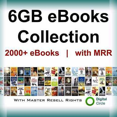 6GB eBooks Package Collection | with Master Resell Right PDF Format+free shiping