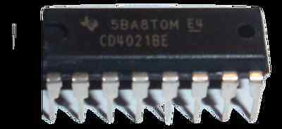 10 Pieces CD4021BE CD4021 TI CMOS 8-Stage Static Shift Register DIP16 US Seller
