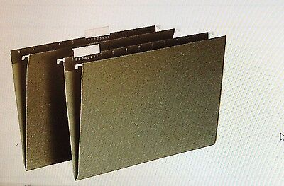 Hanging File Folders Green Legal Size 20 Count,