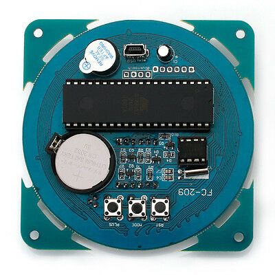 Rotating DS1302 LED Display Alarm Electronic Clock Module Temperature Display