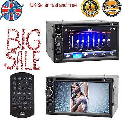Double 2 Din Touch Screen Car DVD Player  Radio Stereo Bluetooth FM/USB/TV/AUX