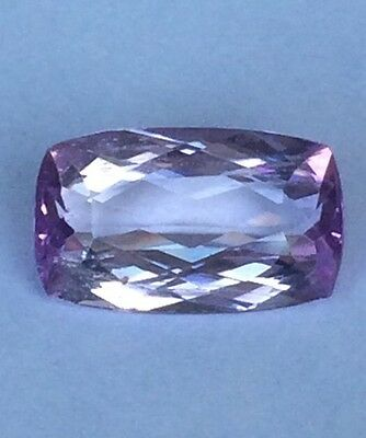 PGTL Certified Violet Pink Kunzite! Natural Heated Cushion Vvs 7.97 Ct
