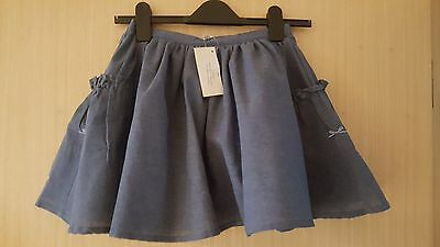 "BNWT Girls ""Their Nibs""  blue chambray denim  skirt - Various Sizes"