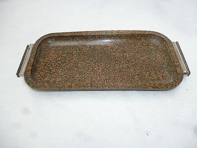 ART DECO MOTTLED BAKELITE SERVING TRAY -  27.5cm long - great vintage piece